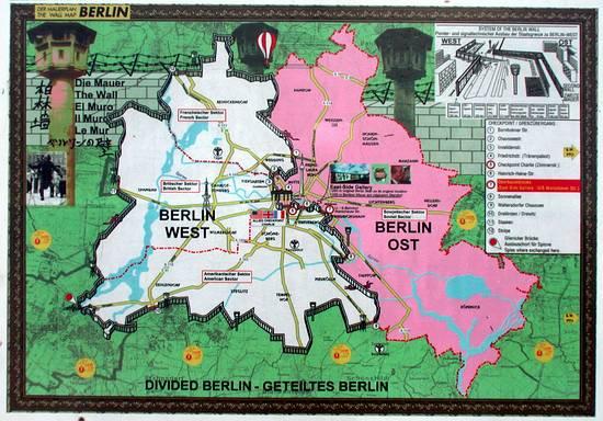 Pianta Muro Berlino : Nimar viaggi nel mondo berlino
